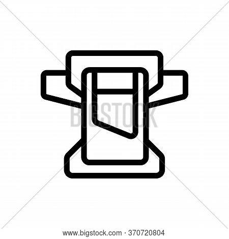 Belt Wallet Icon Vector. Belt Wallet Sign. Isolated Contour Symbol Illustration