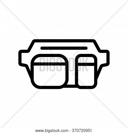Waist Bag For Carry Cash Icon Vector. Waist Bag For Carry Cash Sign. Isolated Contour Symbol Illustr