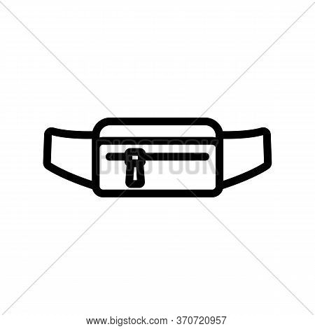Waist Bag For Carry Money Icon Vector. Waist Bag For Carry Money Sign. Isolated Contour Symbol Illus