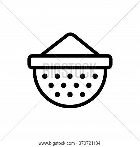 Sieve Sifting Equipment Icon Vector. Sieve Sifting Equipment Sign. Isolated Contour Symbol Illustrat