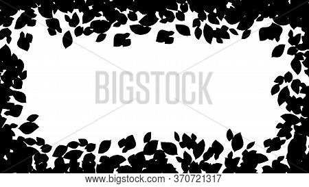 Abstract Background With Green Leaf. Vector Leaves Background Ilustration Template, Vector Illustrat