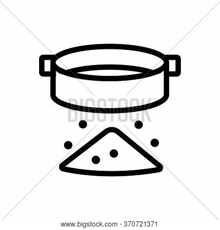 Sifting Flour Icon Vector. Sifting Flour Sign. Isolated Contour Symbol Illustration