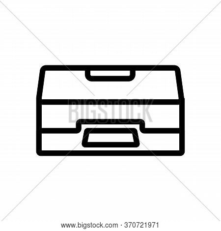 Scanner Office Equipment Icon Vector. Scanner Office Equipment Sign. Isolated Contour Symbol Illustr