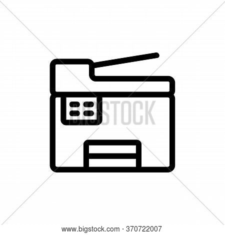 Scanner Printer Device Icon Vector. Scanner Printer Device Sign. Isolated Contour Symbol Illustratio
