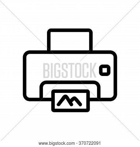 Photocopier Electronic Equipment Icon Vector. Photocopier Electronic Equipment Sign. Isolated Contou