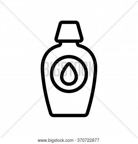 Makeup Remover Liquid Drop Icon Vector. Makeup Remover Liquid Drop Sign. Isolated Contour Symbol Ill