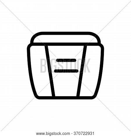 Makeup Remover Cream Container Icon Vector. Makeup Remover Cream Container Sign. Isolated Contour Sy