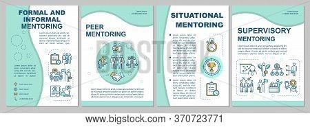 Types Of Mentoring Brochure Template. Corporate Supervision. Flyer, Booklet, Leaflet Print, Cover De