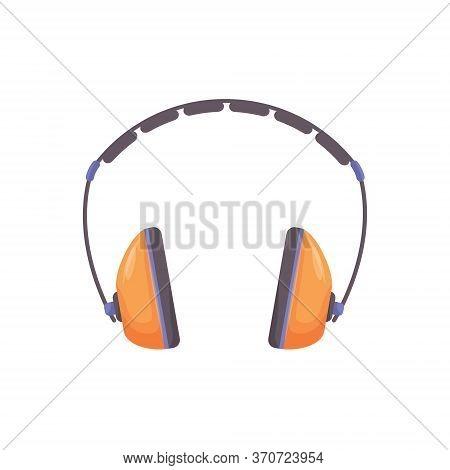 Ear Protectors Cartoon Vector Illustration. Personal Protective Equipment, Head Wear. Hearing Protec