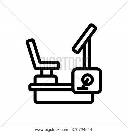 Exercise Bike Athlete Device Icon Vector. Exercise Bike Athlete Device Sign. Isolated Contour Symbol