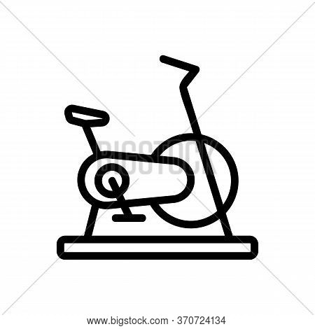 Exercise Bike Sport Gym Tool Icon Vector. Exercise Bike Sport Gym Tool Sign. Isolated Contour Symbol