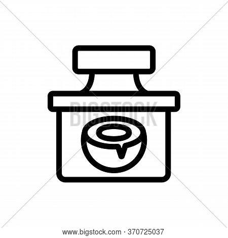 Coconut Creamy Liquid Container Icon Vector. Coconut Creamy Liquid Container Sign. Isolated Contour