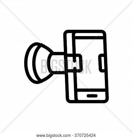 Phone Holder Icon Vector. Phone Holder Sign. Isolated Contour Symbol Illustration