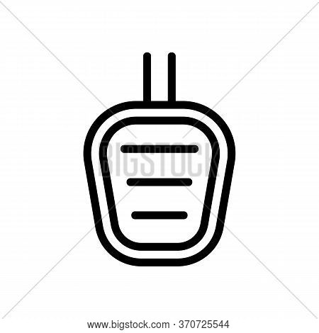 Car Pedal Icon Vector. Car Pedal Sign. Isolated Contour Symbol Illustration