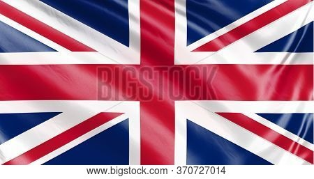 Banner. Realistic Flag. Waving Flag Of The Country Of The European Union. 3d Illustration