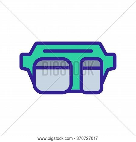Waist Bag For Carry Cash Icon Vector. Waist Bag For Carry Cash Sign. Isolated Color Symbol Illustrat