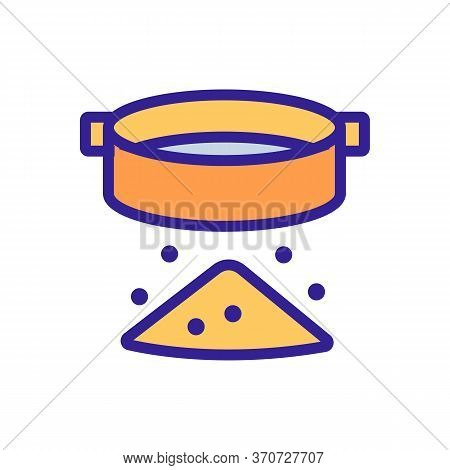 Sieve Kitchen Ware Icon Vector. Sieve Kitchen Ware Sign. Isolated Color Symbol Illustration