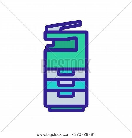 Photocopy Machine Technology Icon Vector. Photocopy Machine Technology Sign. Isolated Color Symbol I