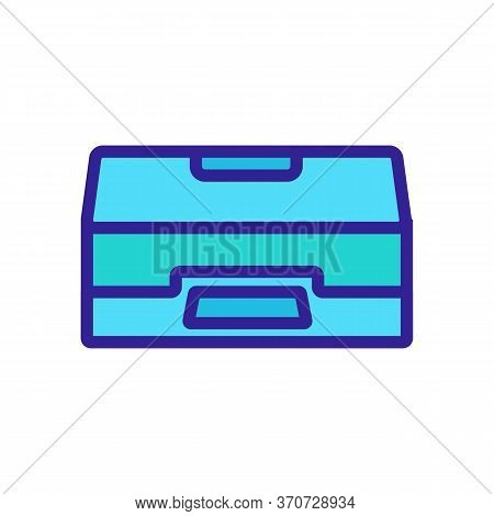 Scanner Office Equipment Icon Vector. Scanner Office Equipment Sign. Isolated Color Symbol Illustrat