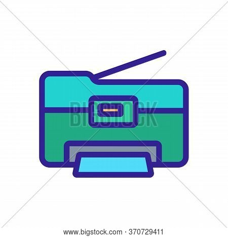 Photocopier Office Device Icon Vector. Photocopier Office Device Sign. Isolated Color Symbol Illustr