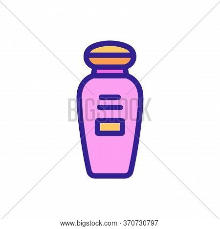 Makeup Remover Cosmetic Lotion Icon Vector. Makeup Remover Cosmetic Lotion Sign. Isolated Color Symb