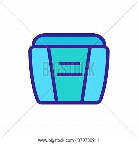 Makeup Remover Cream Container Icon Vector. Makeup Remover Cream Container Sign. Isolated Color Symb
