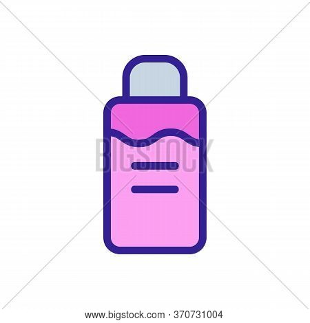 Makeup Remover Cosmetology Liquid Icon Vector. Makeup Remover Cosmetology Liquid Sign. Isolated Colo