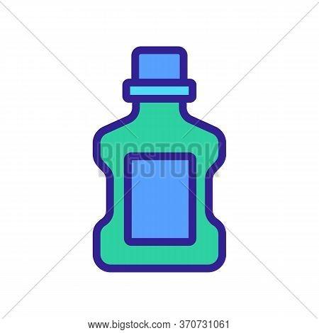 Makeup Remover Liquid Container Icon Vector. Makeup Remover Liquid Container Sign. Isolated Color Sy