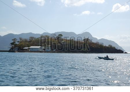 Palawan, Ph - March 8 - Island With Houses And Trees On March 8, 2012 In Coron, Palawan, Philippines