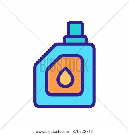 Engine Oil Canister Icon Vector. Engine Oil Canister Sign. Isolated Color Symbol Illustration