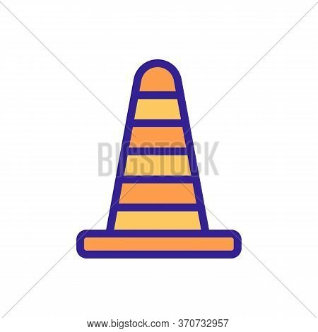 Cone Car Accessory Icon Vector. Cone Car Accessory Sign. Isolated Color Symbol Illustration