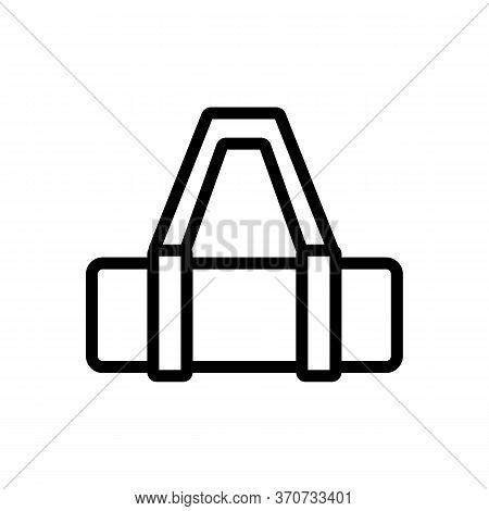 Yoga Mat Bag With Handle Icon Vector. Yoga Mat Bag With Handle Sign. Isolated Contour Symbol Illustr