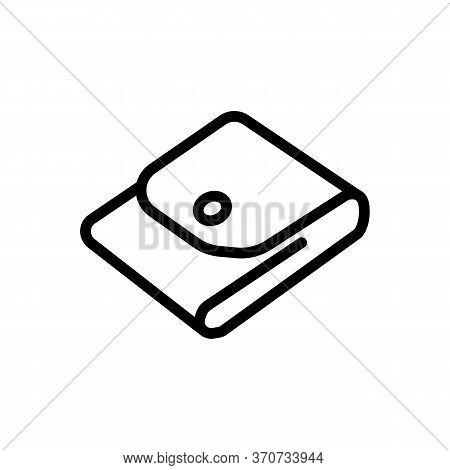 Wallet Cash Storage Accessory Icon Vector. Wallet Cash Storage Accessory Sign. Isolated Contour Symb