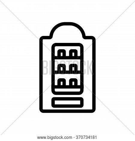 Vending Machine Sell Cigarettes Icon Vector. Vending Machine Sell Cigarettes Sign. Isolated Contour