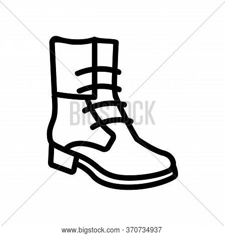 Cowboy Boot Icon Vector. Cowboy Boot Sign. Isolated Contour Symbol Illustration