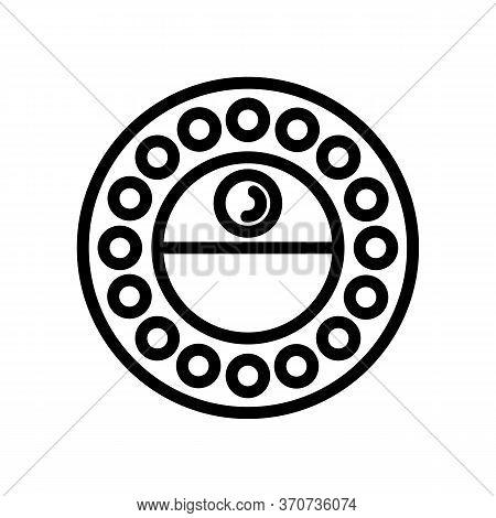 Selfie Diod Light Device Icon Vector. Selfie Diod Light Device Sign. Isolated Contour Symbol Illustr