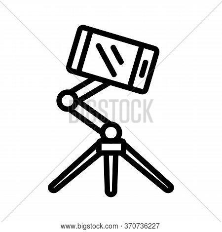 Selfie Tripod Icon Vector. Selfie Tripod Sign. Isolated Contour Symbol Illustration