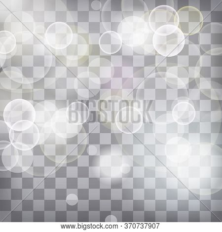 Blue And White Lights Festive Chequered Background With Light Be