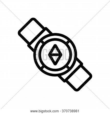 Wrist Compass Icon Vector. Wrist Compass Sign. Isolated Contour Symbol Illustration