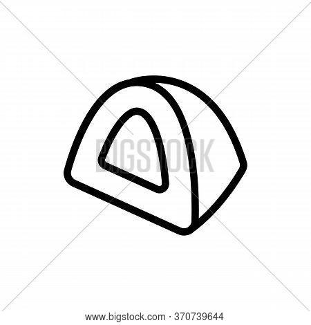 Chocolate Sliced Piece Icon Vector. Chocolate Sliced Piece Sign. Isolated Contour Symbol Illustratio