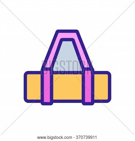 Yoga Mat Bag With Handle Icon Vector. Yoga Mat Bag With Handle Sign. Isolated Color Symbol Illustrat