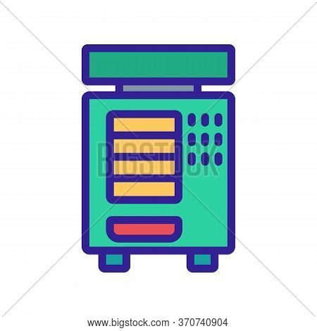 Vending Machine Selling Device Icon Vector. Vending Machine Selling Device Sign. Isolated Color Symb