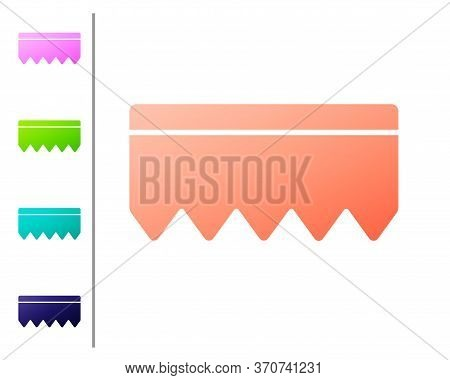 Coral Sponge With Bubbles Icon Isolated On White Background. Wisp Of Bast For Washing Dishes. Cleani