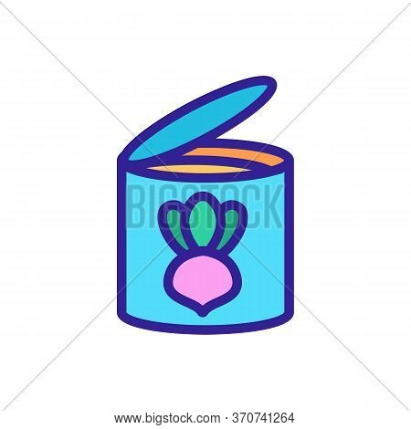 Turnip Opened Tin Icon Vector. Turnip Opened Tin Sign. Isolated Color Symbol Illustration