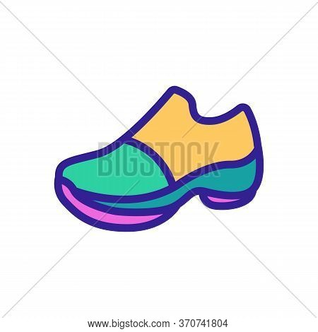 Running Boot Icon Vector. Running Boot Sign. Isolated Color Symbol Illustration