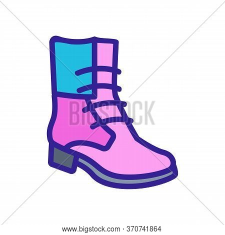 Cowboy Boot Icon Vector. Cowboy Boot Sign. Isolated Color Symbol Illustration