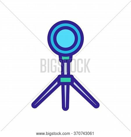 Light Device On Tripod Icon Vector. Light Device On Tripod Sign. Isolated Color Symbol Illustration