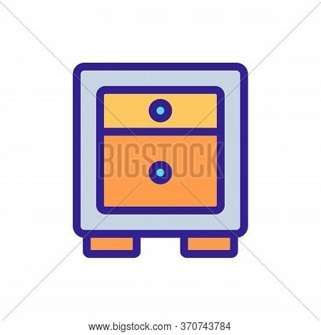 Nightstand Traditional House Furniture Icon Vector. Nightstand Traditional House Furniture Sign. Iso