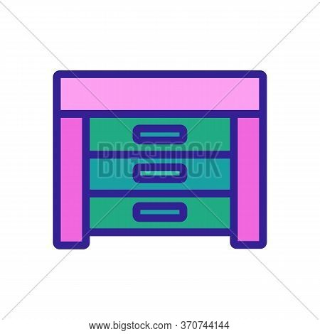 Nightstand Living Room Furniture Icon Vector. Nightstand Living Room Furniture Sign. Isolated Color