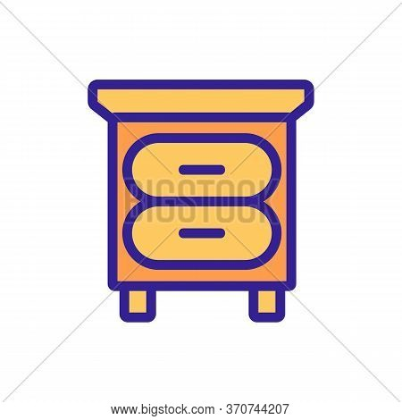 Nightstand Furniture Icon Vector. Nightstand Furniture Sign. Isolated Color Symbol Illustration